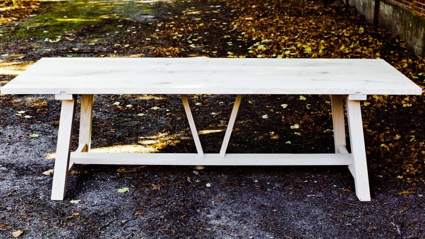 Sauntebord - langbord i ask