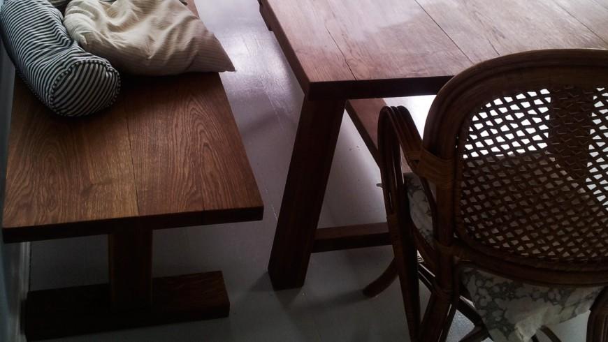 Sauntebordet - egetræsbænk