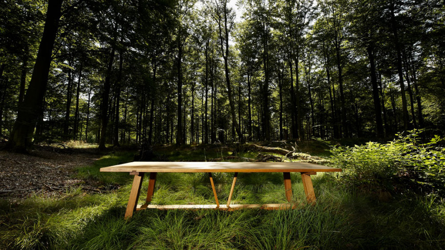 Sauntebord - langbord i eg